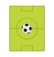 Football soccer ball Field scheme with gates Flat vector image vector image