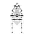 geometric tribal print vector image