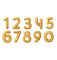 golden number balloons realistic numeral vector image vector image