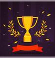 golden trophy award sport vector image