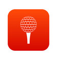 golf ball on a tee icon digital red vector image vector image