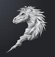 Grey Geometric Horse vector image vector image
