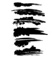 grunge ink brush strokes set freehand black vector image vector image