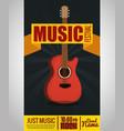 guitar electric instrument label vector image vector image