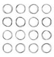 hand drawn circle vector image vector image
