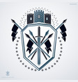 heraldic coat of arms made with graphic elements vector image vector image