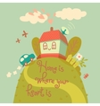 Home is where your heart is vector image