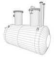 Industrial equipment capacity wire-frame eps10