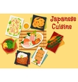 Japanese cuisine lunch icon for menu design vector image vector image