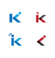 k letter logo template vector image vector image