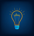 lightbulb creative idea and brainstorm concept vector image