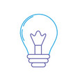 line light energy bulb to illumination vector image vector image