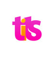 logo of tits - pink emblem for store or web vector image