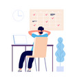 manager rest at workplace time out multitask vector image vector image