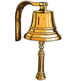 marine theme ships bell vector image vector image