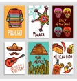 Mexico Poster Set vector image vector image