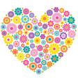 mod flower heart vector image vector image