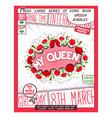 my queen - congratulatory poster design vector image vector image