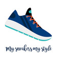 my sneakers my style shoe icon vector image vector image