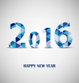New Year card with blue triangular pattern vector image vector image