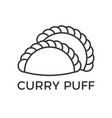 outline icon for use as pastry sign vector image vector image
