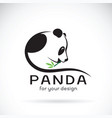 panda design on a white background wild animals vector image vector image