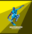 people playing skateboard vector image vector image