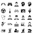 personnel department icons set simple style vector image vector image