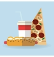 Pizza and hot dog design vector image vector image