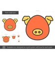 Pork meat line icon vector image vector image