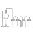 preparing chlorine vintage vector image vector image