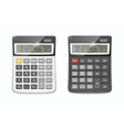realistic calculator set isolated on white vector image