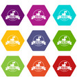 renovation tool icons set 9 vector image vector image