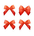 ribbons set for christmas gifts red gift bows vector image vector image