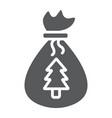 santas bag glyph icon christmas and gift vector image vector image