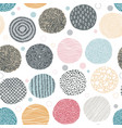 seamless circle pattern doodle organic minimal vector image