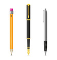 Set icons pen and pencil 01 vector | Price: 1 Credit (USD $1)