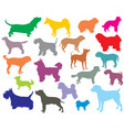 set of colorful dogs silhouettes-5 vector image vector image
