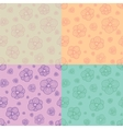 Stylized flowers patterns vector image vector image