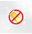The symbol of the prohibition of gold bars vector image vector image