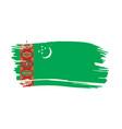 turkmenistan flag vector image vector image