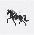 unicorn silhouette icon logo horses tattoo vector image vector image
