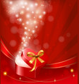 valentine day background with open gift box vector image