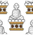 vietnamese buddha statue seamless pattern landmark vector image