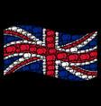 waving united kingdom flag mosaic of forum chat vector image vector image