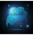 Website template design Cloud speech bubble vector image vector image
