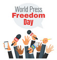 world press freedom day vector image vector image