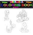 worm coloring book vector image