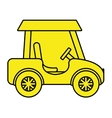 yellow golf cart side view graphic vector image vector image