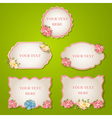 set - vintage labels with flowers vector image